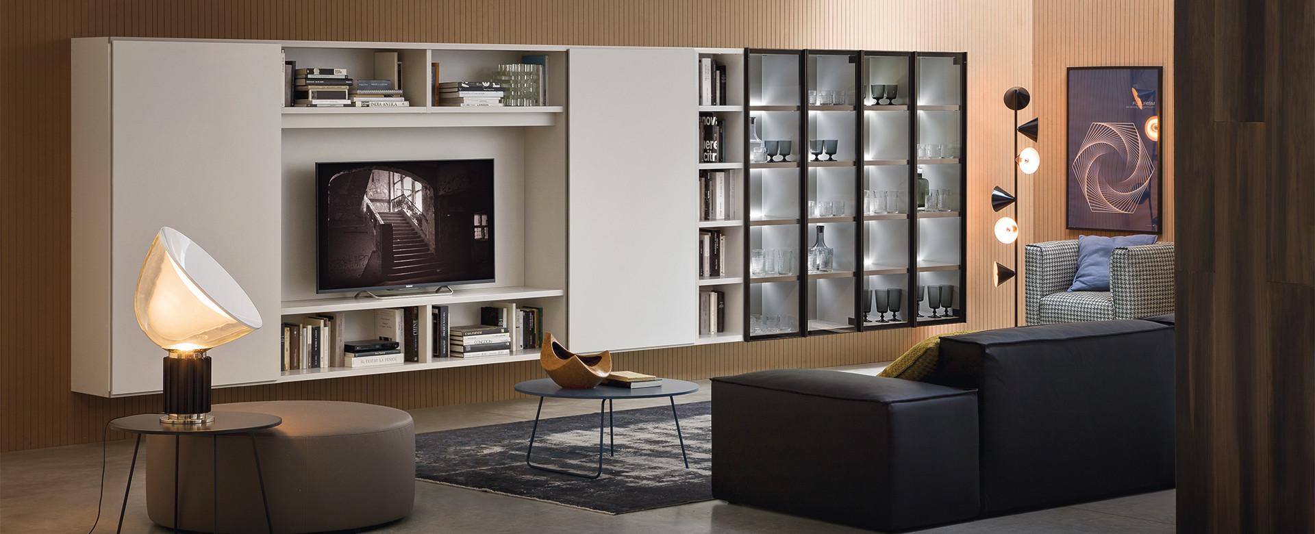soggiorni | linea casa arredamento - Libreria Novamobili Soggiorno 2